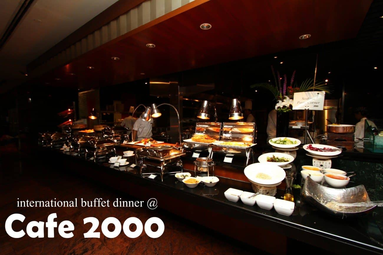 International buffet dinner at cafe 2000 m hotel miss for Cuisine 2000