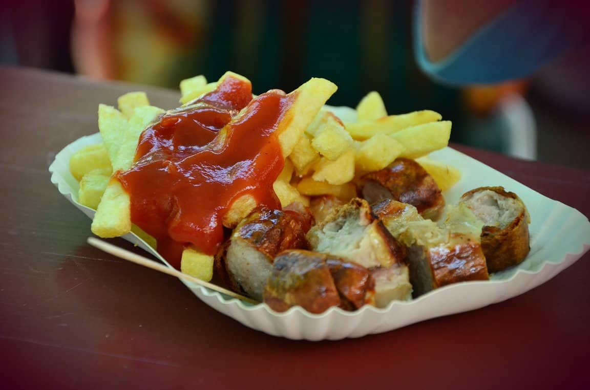 Pommes Currywurst With Fries