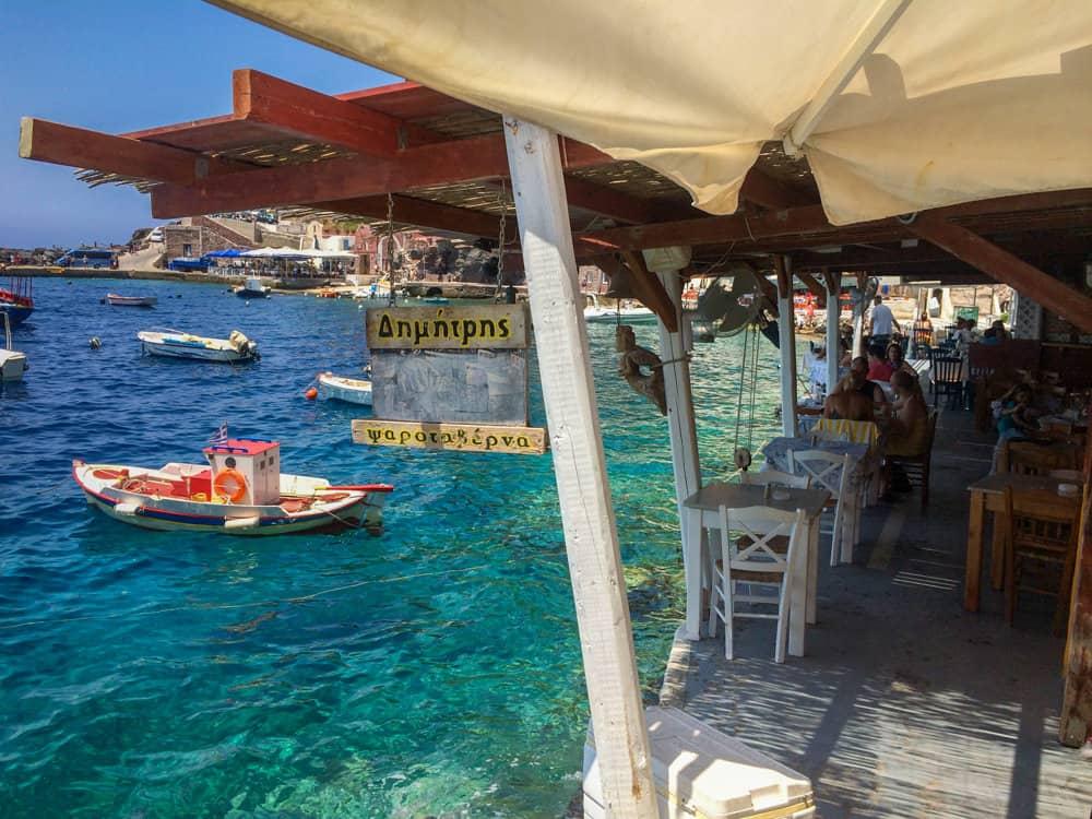 Dimitris Ammoudi Taverna in Oia, Greece