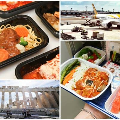 A Look at Scoot's Long Haul Inflight Meals to Greece