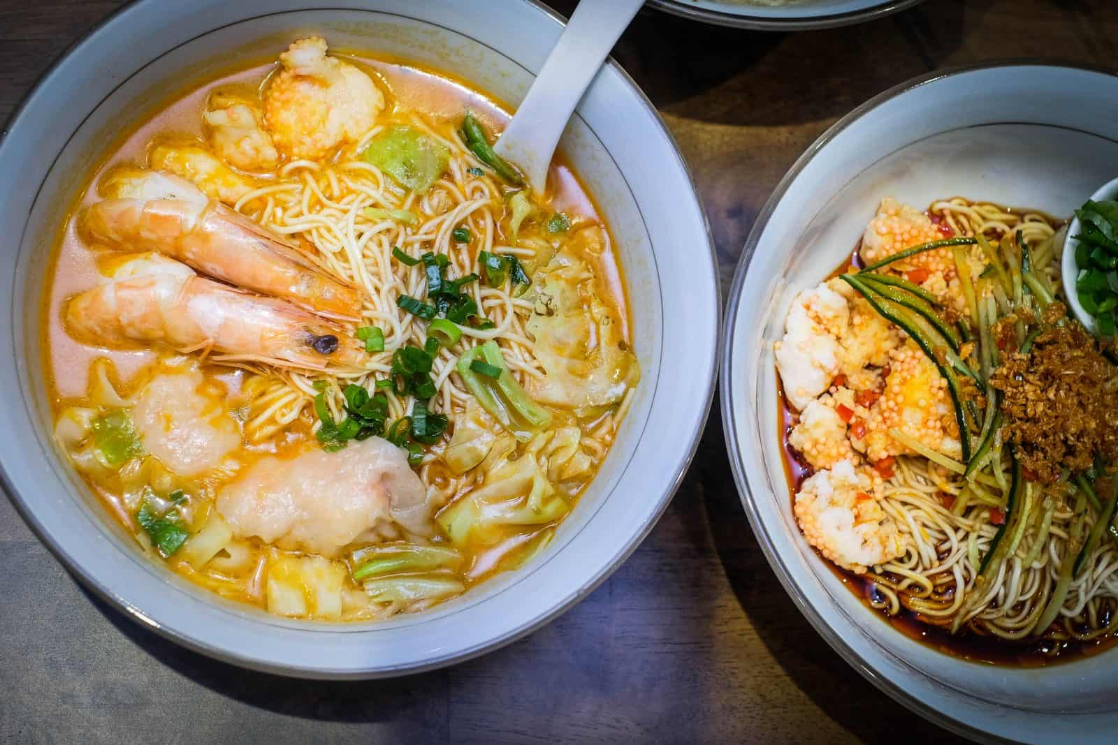 Le Shrimp Ramen Chinese La Mian At Paragon With Specialty Shrimp Broth
